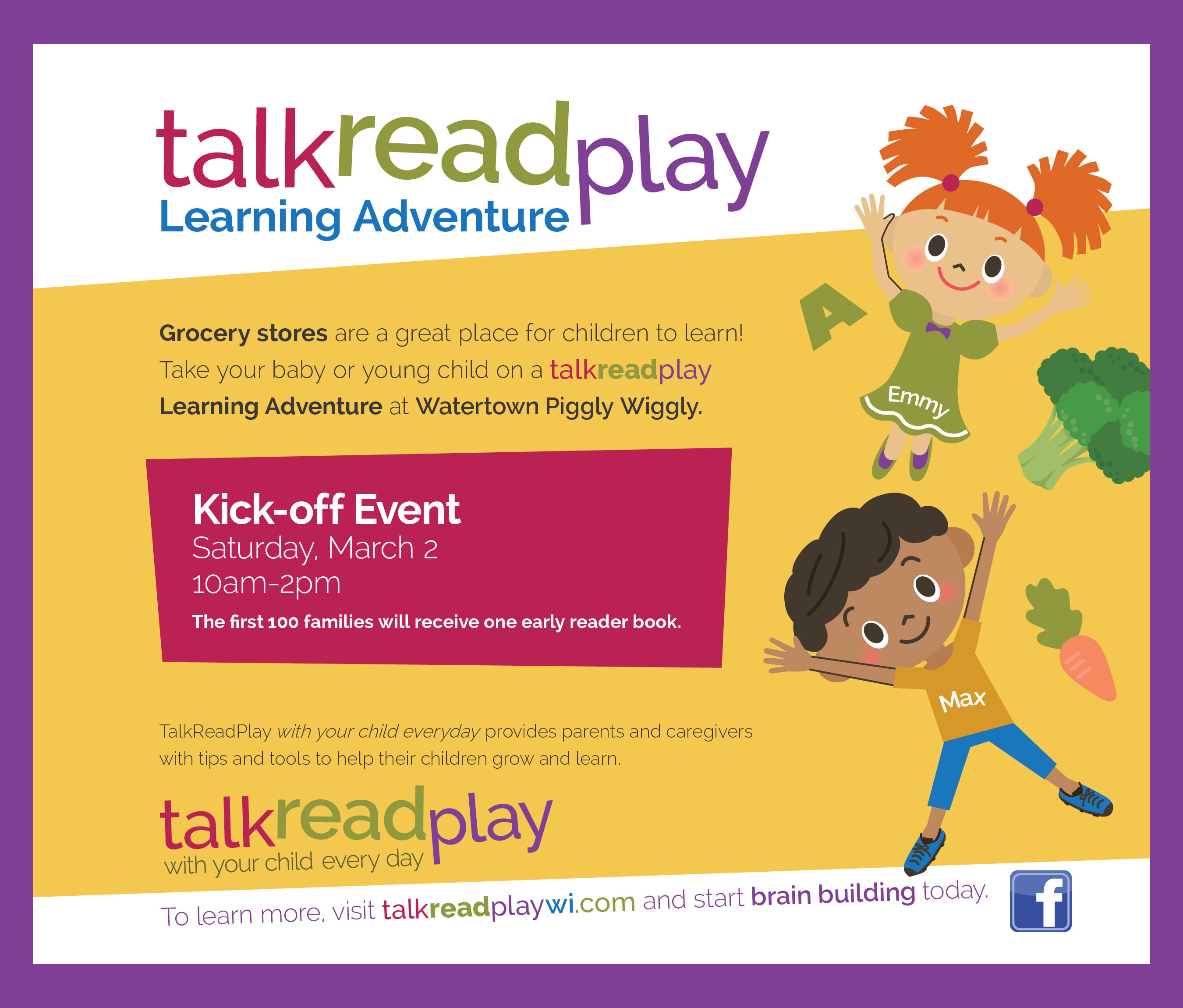 talk read play kick off event
